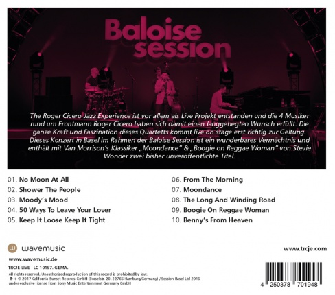 The Roger Cicero Jazz Experience - Live @ Baloise Session Vorschau 1