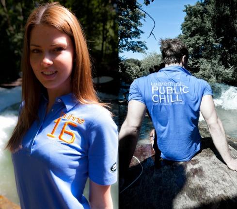 wavemusic Polo-Shirt by van Laack, Frauen, blau