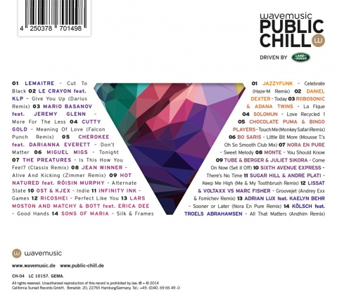 wavemusic public chill Vol. 4 - Double CD Vorschau 1